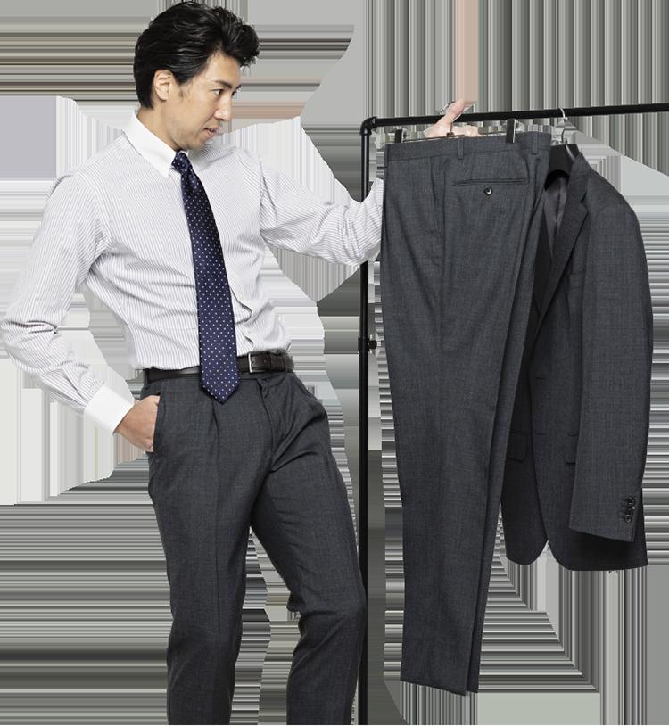 スーツが長持ちする2パンツスーツは<br /> 「お二人でも2着セット割」がお得